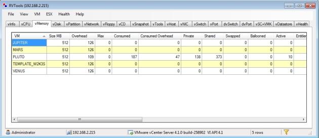 rvtools inventory vsphere